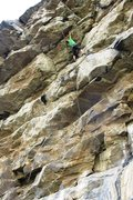 Rock Climbing Photo: Beginning the final obstacle, a 12-foot concave be...