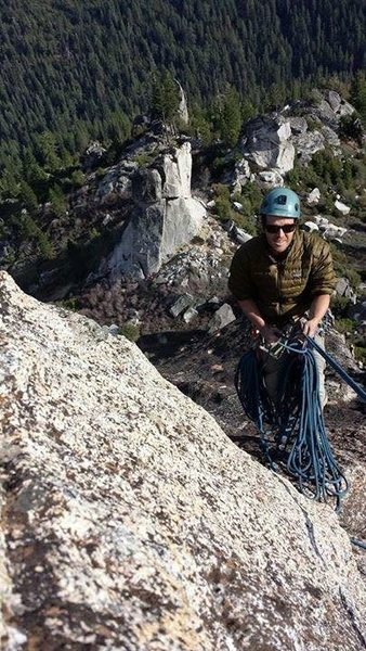 Rock Climbing Photo: It gets windy at the top - build 'saddlebags' out ...