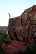 Rock Climbing Photo: Getting motivation from the guy above me helped wi...