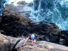 Rock Climbing Photo: Otter Cliff, Acadia, Maine