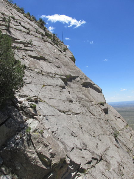 Rock Climbing Photo: Upper portion of the face.