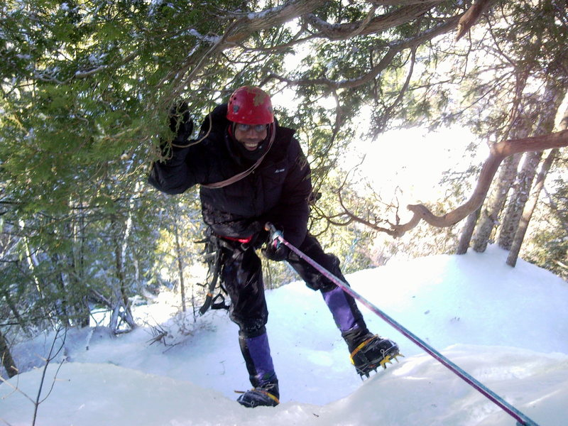 Rock Climbing Photo: Andrew on Adirondack ice