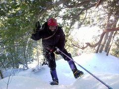 Andrew on Adirondack ice