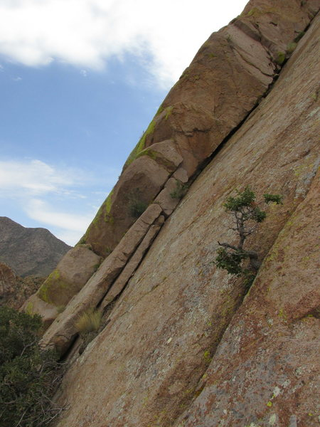 Rock Climbing Photo: Looking left from just above the trees.