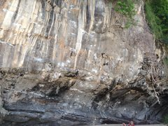 Rock Climbing Photo: From left to right: Voodoo Child (5.13a), Phet Mak...