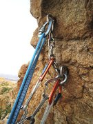 Rock Climbing Photo: Anchor on Isula Rossa, Corsica