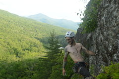Rock Climbing Photo: Enjoying the sweet moves at the top on the first a...