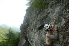 Rock Climbing Photo: FA of Rancid Meat.  Photo by Russell Frisch.