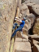 Rock Climbing Photo: Layback to the finish