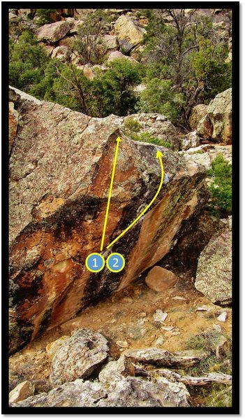 Rock Climbing Photo: Interim north face problems: 1 - Syphilis of The F...