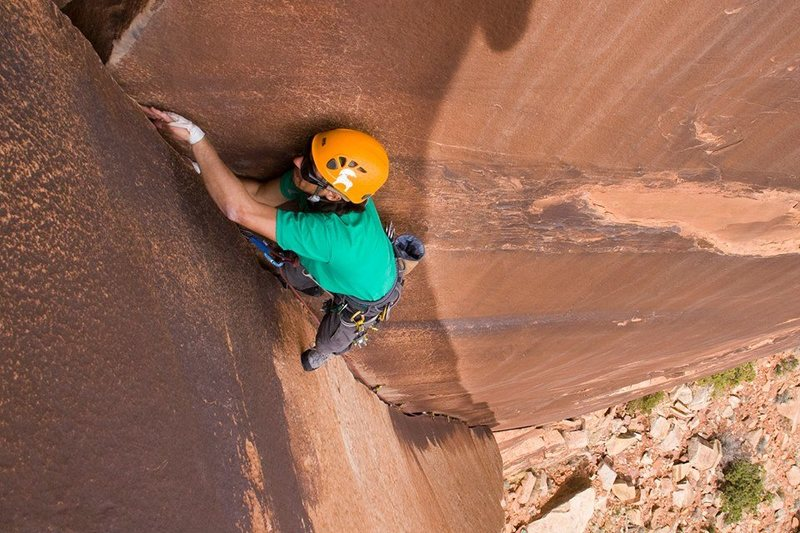Rock Climbing Photo: Bunny Slope, 5.9 Indian Creek