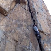 Rock Climbing Photo: Fun route, Get on it! Found that the right foot he...