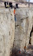 """Rock Climbing Photo: """"Team free ascent"""" Billings style."""