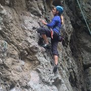 """Rock Climbing Photo: Above the bouldery start of """"Best Laid Plans...."""