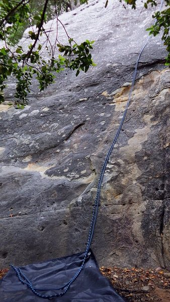 Rock Climbing Photo: The few extra feet of slack after rapping down wit...