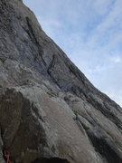 Rock Climbing Photo: Looking up and right at the first pitch. Head all ...