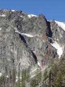 Rock Climbing Photo: North Tower Ridge topo