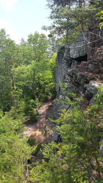 Rock Climbing Photo: the wall has top rope anchors every where great be...