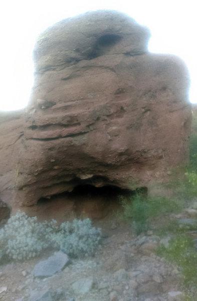 Rock Climbing Photo: Decent height
