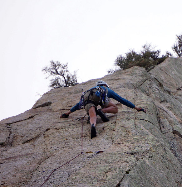 Rock Climbing Photo: Doug doing his best Iron Cross to unlock The Watch...
