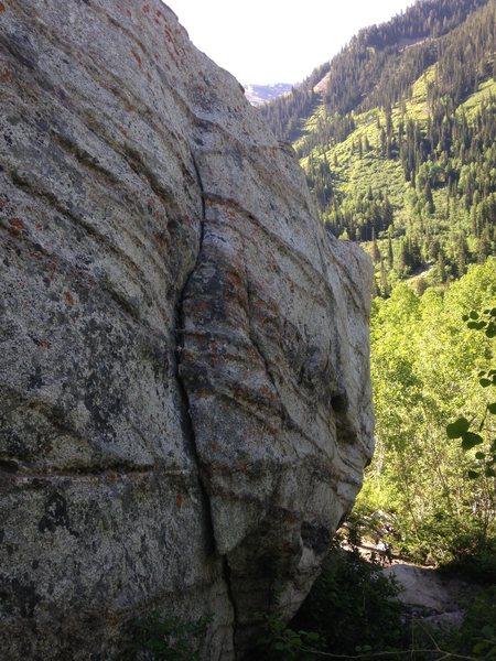Rock Climbing Photo: Snowbird Crack