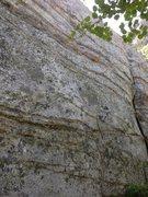 Rock Climbing Photo: Powderbird climbs the face to the left of the crac...