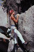 Rock Climbing Photo: Res von Känel on FA Pilz Grind....We had camped u...