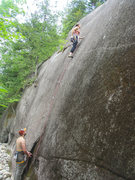 Rock Climbing Photo: Ripples (.10d) at the Aquarium Wall, Chapel Pond P...