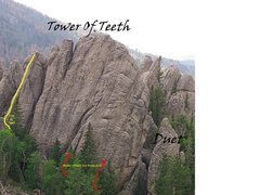 Rock Climbing Photo: just left of the tower of teeth route.