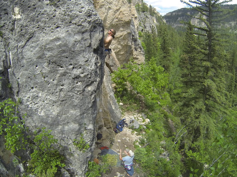 Rock Climbing Photo: Buckshot Booya is just to the right of The Joker.