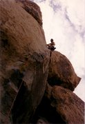 Rock Climbing Photo: Mark Taylor on Dog Day Afternoon, March 1990