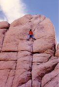 Rock Climbing Photo: Mark Taylor on Sail Away - March 1990