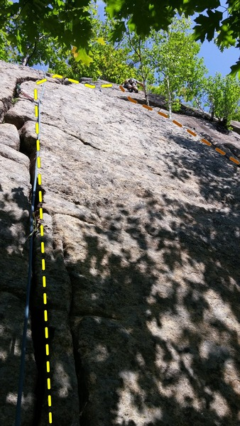 Third Pitch of Provando (from Jammer Wall terrace).