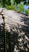 Rock Climbing Photo: Third Pitch of Provando (from Jammer Wall terrace)...