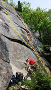Rock Climbing Photo: Action Steps (Yellow) and Stand Your Ground (Orang...