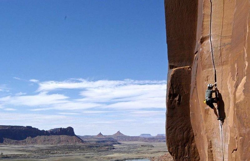 Rock Climbing Photo: Top roping Scarface after a buddy of mine set it u...