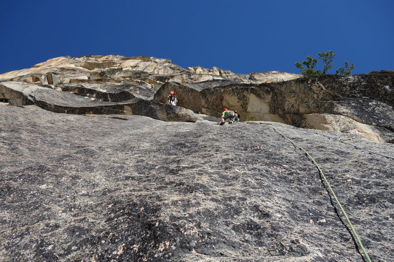 Rock Climbing Photo: pitch 2 - slabs to corner crack
