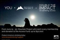 Rock Climbing Photo: MP matching $50k to Access Fund
