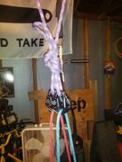 Rock Climbing Photo: Double rope top rope