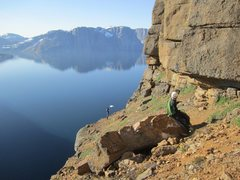 Rock Climbing Photo: A view worth getting up for! Impossible Wall, in t...