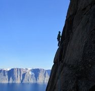 Rock Climbing Photo: Just Steve, a skyhook, a nut with a screamer in a ...