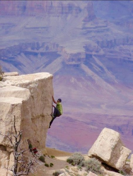 Rock Climbing Photo: Bouldering Grand Canyon Limestone!!!