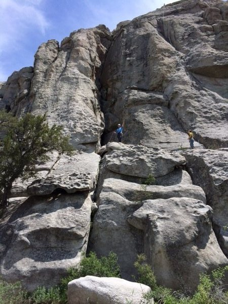 Rock Climbing Photo: Shows belay ledge/area (and route) for (1) Norma's...