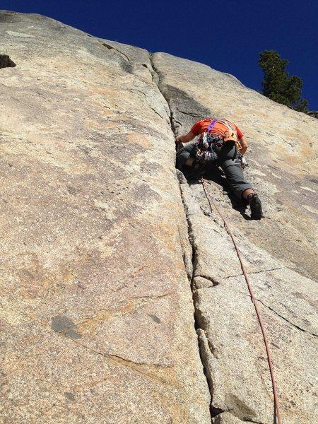 Start of the climb.