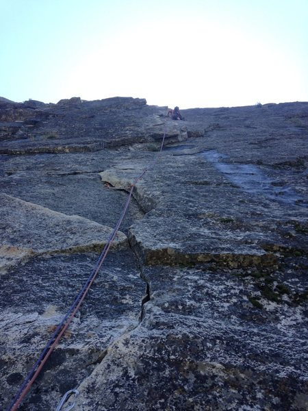 Rock Climbing Photo: Top of pitch #1