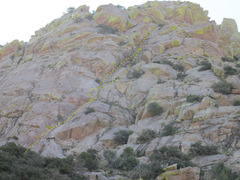 Rock Climbing Photo: Bucky Blue as viewed from the approach to the Lamb...