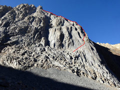 Rock Climbing Photo: This shows the start of the North Buttress from be...