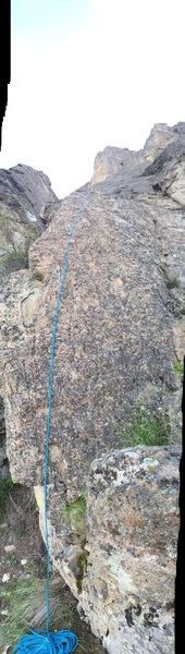 Rock Climbing Photo: Start of Rashomon from belay ledge.