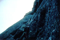 Rock Climbing Photo: Pitch 1, a crack leading to Sentry Box