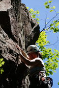 Rock Climbing Photo: A true dead vertical that's 5.7 at Rumney?  Yes in...